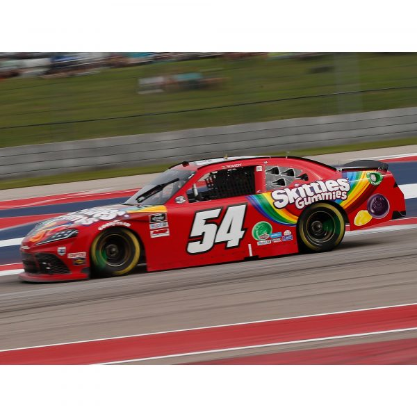 Kyle Busch Action Racing 2021 NASCAR Xfinity Series Circuit of the Americas Race Win Skittles Gummies 1:24 Regular Paint Die-Cast Toyota Camry